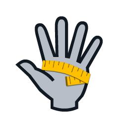 Rozměry rukavic a jak změřit ruku.