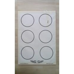 Terče papírové 6 kruhů