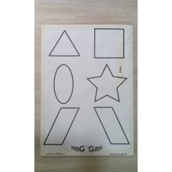 Terče papírové 6 různých symbolů
