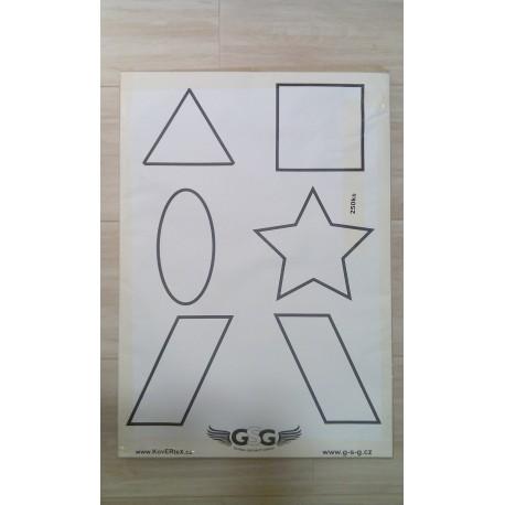 Terče papírové 6 symbolů