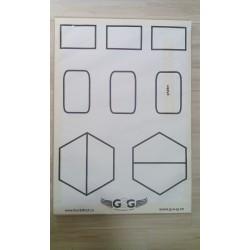 Terče papírové 8 tvarů